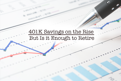 401k savings on the rise